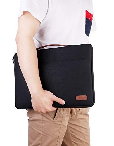 ProCase 14 - 15.6 Inch Laptop Sleeve Case Protective Bag for 15'' MacBook Pro 2016, Ultrabook Notebook Carrying Case Handbag for 14'' 15'' ASUS Acer Lenovo Dell HP Toshiba Chromebook Computers -Black by ProCase (Image #6)