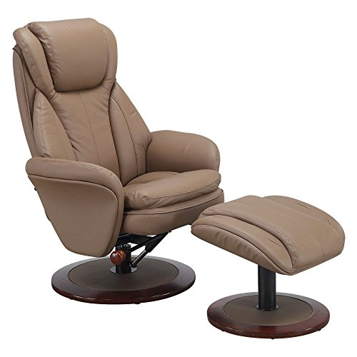Norway-240-11  Recliner in Sand Leather by