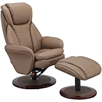 Norway-240-11  Recliner in Sand Leather by Comfort Chair Collection