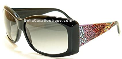 0a3e850f8ee Image Unavailable. Image not available for. Color  JUDITH LEIBER Sunglasses  1028 01 BLACK ...