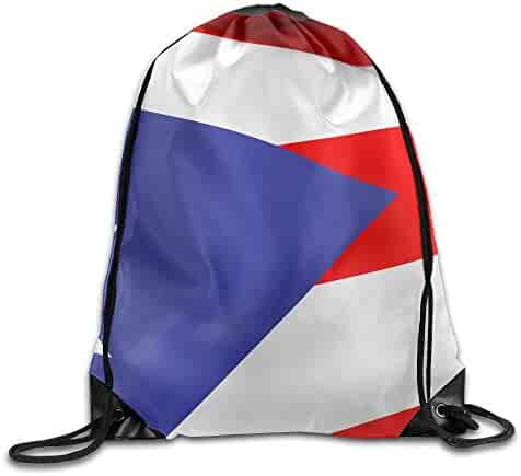 OLGCZM Puerto Rico Waving Flag Drawstring Backpack Bag Shoulder Bags Gym Bag  For Adult eb7f2977d84b2