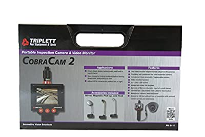 Triplett CobraCam 2 8115 Flexible Snake Camera/Borescope with 2.4-inch Display