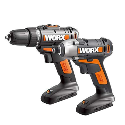 WORX WX944L 20V Cordless Drill Driver WX101L and 20V Lithium Cordless Impact Driver WX290L Combo Kit