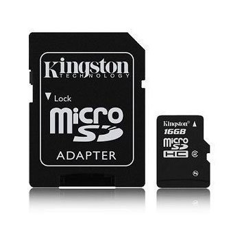 Professional Kingston MicroSDHC 16GB (16 Gigabyte) Card for Nokia E52 Phone with custom formatting and Standard SD Adapter. (SDHC Class 4 Certified)