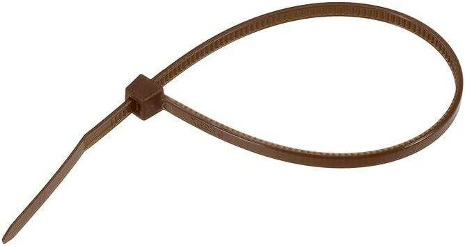 uxcell 200pcs Cable Zip Ties 6 Inch x 0.1 Inch Self-Locking Nylon Tie Wraps Brown