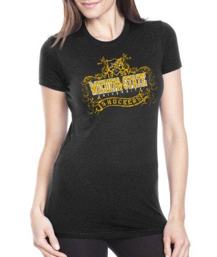 NCAA Wichita State Shockers Women's Prius2 Long Body Classic T-Shirt, Black, Large