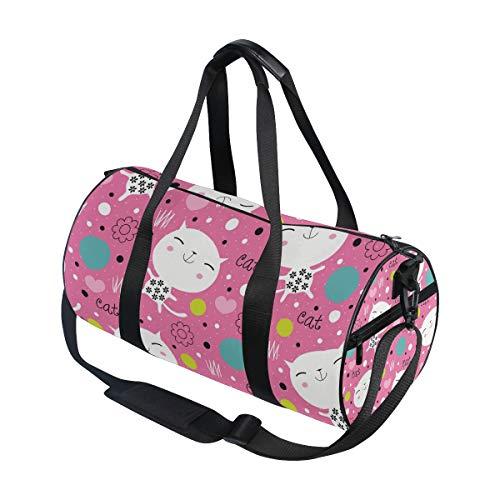 DEZIRO Endearing Kitty sport duffle bag Drum Sports bag