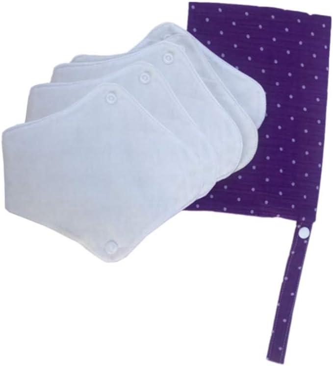 SUPVOX 5 Piezas Toalla Sanitaria Reutilizable Compresas Sanitarias Almohadillas Menstruales Lavables con una Bolsa de Organización