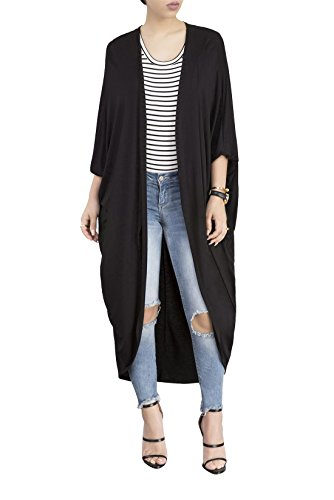 JointlyCreating Women's Long Sleeve Open Front Maxi Duster Cardigan Sweater Kimono Coat,Spring Summer Sweaters for Women
