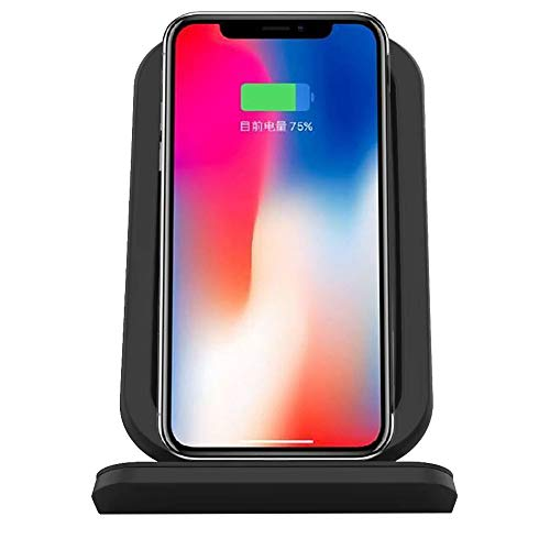 IPhone casing,Sdoo Qi Wireless Fast Charger Charging Pad Stand Dock For Iphone XS/XS Max/XR (black)