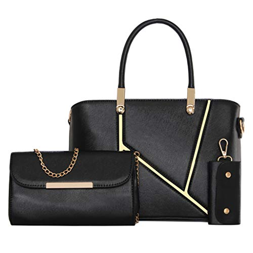(Clearance!DDKK bags Waterproof Faux Leather Handbags Set for Women Fashion Purse Shouler Totes Bag-Synthetic Leather Shoulder Satchel Hobo Handbag Set)