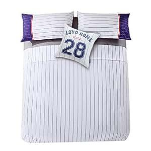amazon com lovo cotton sheets and pillowcase set 5pcs stripe