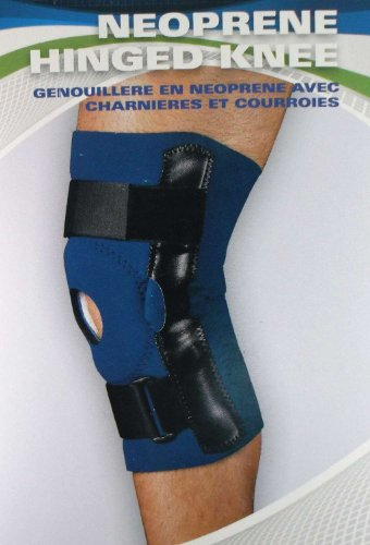 Sportaid Knee Brace (Sportaid, Knee Brace Hinged Open Patella Neoprene, Blue, Large, 15-17 inches ...)