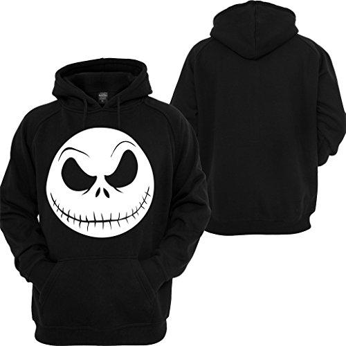 Nightmare Before Christmas Hoodie Jack Skellington Face Disney Custom Sweatshirt -