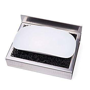 Lebahter Seifenablage Badezimmer Edelstahl Selbstklebende Seife Saver  Dusche Oder Küche Zubehör Schwamm Halter, Gebürstetes Nickel
