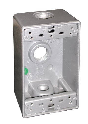 UPC 076335662121, Preferred Industries MQ-B75-3 1-Gang Metal Box with Three 3/4-Inch Threaded Outlets