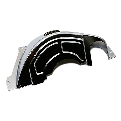 Assault Racing Products A9587 GM 700R4 Chrome Steel Transmission Flywheel Flexplate Cover Chrome Plated Flywheel Cover
