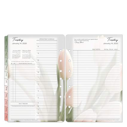 Classic Blooms Daily Ring-Bound Planner - Jan 2020 - Dec 2020 by Franklin Covey