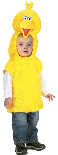 UHC Boy's Sesame Street Big Bird Vest Toddler Fancy Dress Halloween Costume, 1T-2T ()