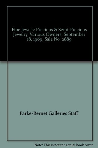 (Fine Jewels: Precious & Semi-Precious Jewelry, Various Owners, September 18, 1969, Sale No. 2889)