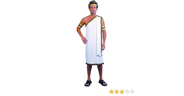 Amazon Com Mens Fancy Party Dress Noble Man Greek God White Roman