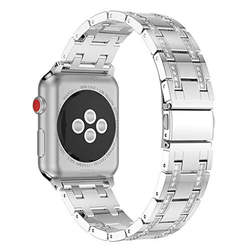 2019 Great Best Gift !!! Cathy Clara Fashion Sports Bracelet Strap Band Luxury Crystal Metal Watch Band Wrist Strap for Apple Watch Series 1/2/3 ()