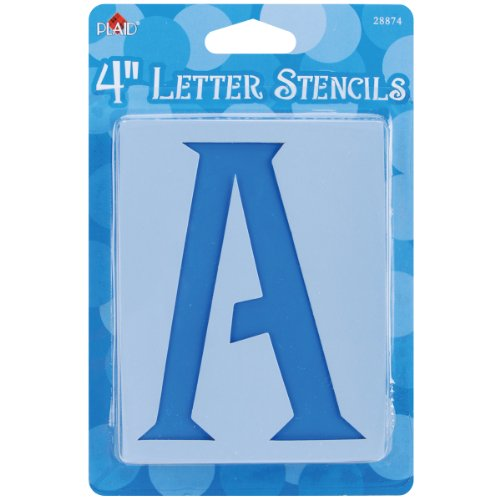 Plaid Letter Stencil Value Pack (4-Inch), 28874 (Stencil 4 Signs)