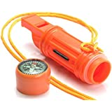 SE CCH5-1 5-IN-1 Survival Whistle in Orange