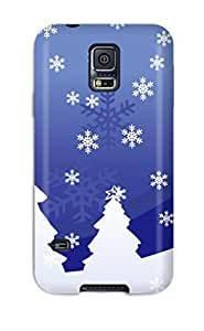 Anti-scratch And Shatterproof Vector Christmas Design Phone Case For Galaxy S5/ High Quality Tpu Case