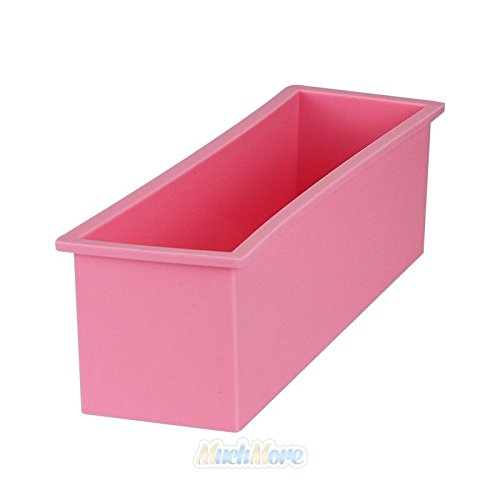 1.2L Rectangle Loaf Toast Bread Pastry Cake Soap Silicone Mold - 5