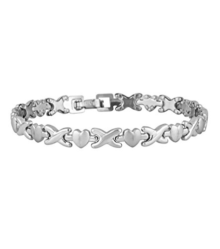 Bracelet for women hugs and Kisses hearts Stainless Steel