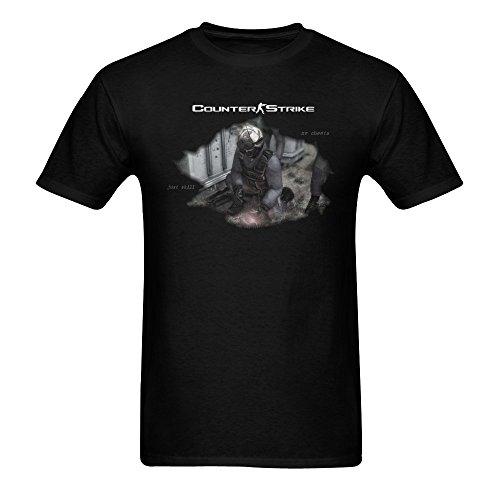 Counter Tee Design - ZIFENG Men's Counter Strike Design T Shirts Black 3XL