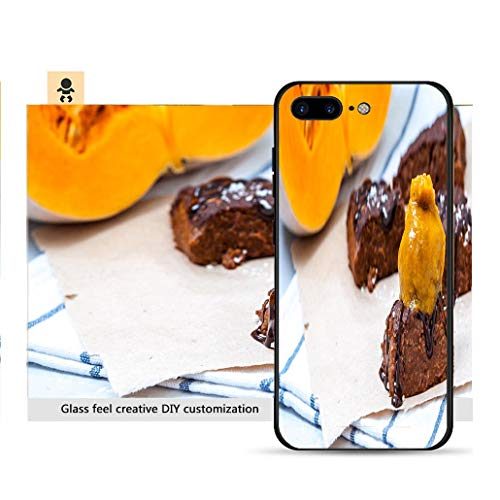(iPhone 7p / 8p Ultra-Thin Phone case Pumpkin Vegan Brownie with Pumpkin ice Cream Resistance to Falling, Non-Slip, Soft, Convenient Protective case)