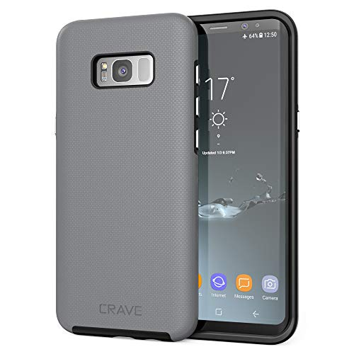 S8 Plus Case, Crave Dual Guard Protection Series Case for Samsung Galaxy S8 Plus - Slate