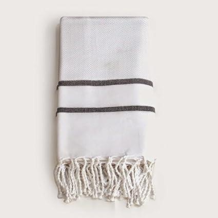Fouta toalla blanco Spa toalla de baño y playa manta alta calidad algodón Herringbone de entrega