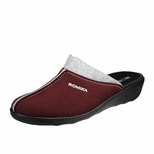 Pantofole 87 Donna 301 Dunkelrot 60101 Romika bordo Romilastic z1Iqx8wR