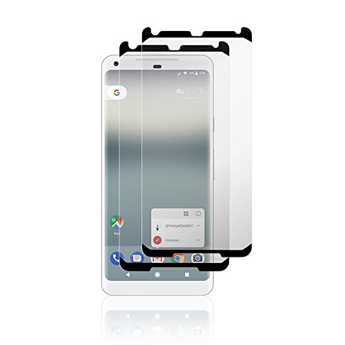 SoMi 2-Pack Google Pixel 2 XL HD Clear Tempered Glass Screen Protector w/Install Tabs, 9H Hardness, Premium Protection Shield, Anti-Fingerprint, Bubble Free, 3D Touch Compatible, Case-Friendly