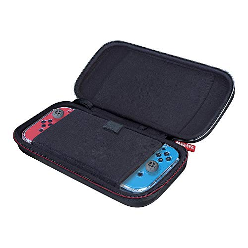 Officially Licensed Nintendo Switch Game Traveler Deluxe Travel Case with Adustable Viewing Stand - Black