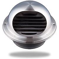 Hon&Guan 丸型フード付 ガラリ 換気口 100 ダクトファン 換気扇 ステンレス 防虫網付 換気部材(100mm対応)