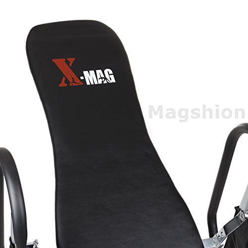 X MAG Gravity Inversion Therapy Table Deluxe Adjustable Table With Comfort Foam Black
