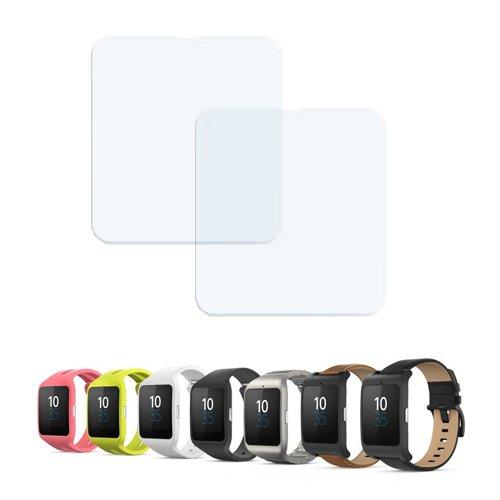 Donkeyphone - 2X Protector DE Pantalla Ultra Clear Flexible para Sony SMARTWATCH 3 SWR50 Reloj Wearable Inteligente Android