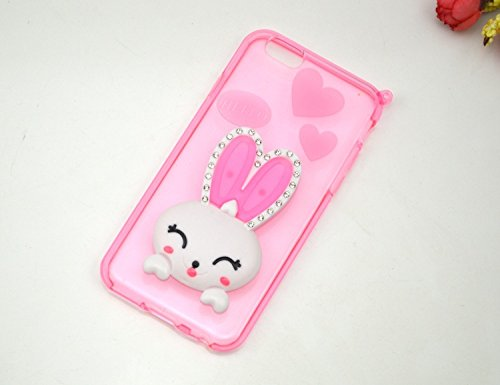 Samnsung Note 4 Case, CoverProof Fashion Rabbit Cover Luxury Rhinestone Diamond Rabbit Ear Holder Shell Soft Silicone Case for Samnsung Note 4-Pattern 5