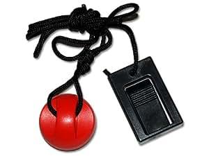 Treadmillpartszone 208603 Treadmill Key with Clip Round Magnet