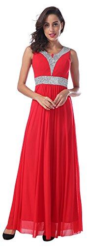Red royal evening dress elegant evening gown - 1
