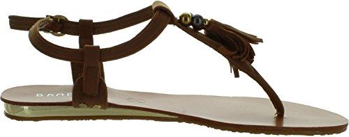 Femmes En Bambou Saili-05 Sandales À Franges À Franges Châtaigne Nubuck