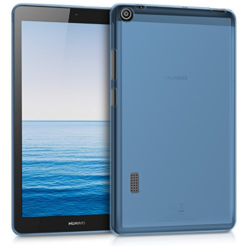 kwmobile Huawei MediaPad T3 7.0 Case - Crystal TPU Cover for Huawei MediaPad T3 7.0 - Blue