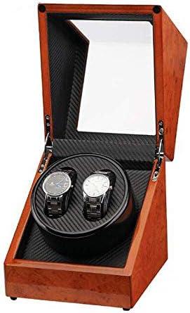 2つの時計のための二重木の自動腕時計の巻取り機、静かなモーターが付いている自動Watch舎