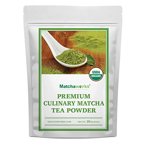 Matchaworks Matcha Green Tea Powder Unsweetened (16 Ounces/ 1 Pound) | Pure Certified Organic Premium Culinary Grade Extract | Keto, Vegan & Non-GMO | Smoothies, Lattes & Ice Cream