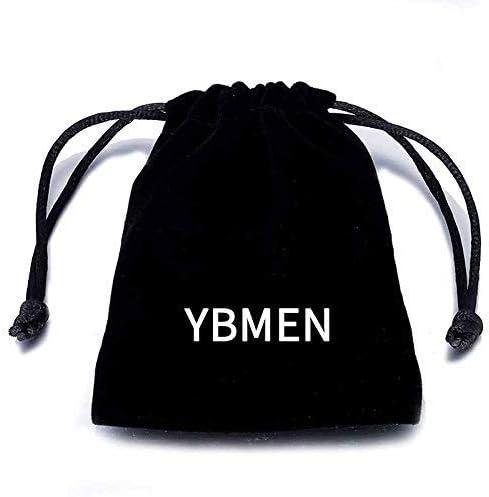 YBMEN Bijoux Bague Acier Titane Hommes Acier Inoxydable Punk Rock Motif Grav/é Turquoise Bague
