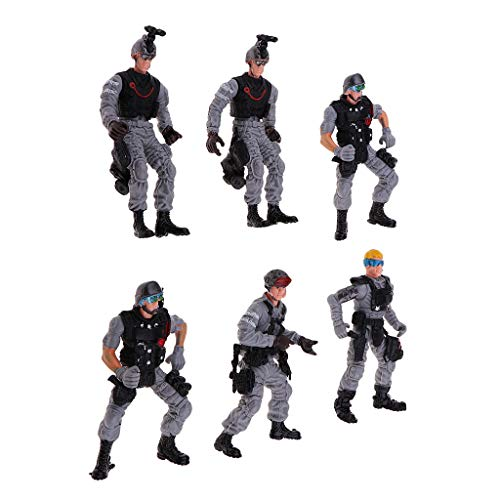 Fityle 6X Movable Joints CQB Military Soldier Action Figure Model Figurine Ornament